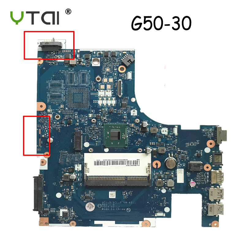 YTAI ACLU9/ACLU0 NM-A311 For Lenovo G50-30 g50 30 Laptop motherboard DDR3 CPU:N2820