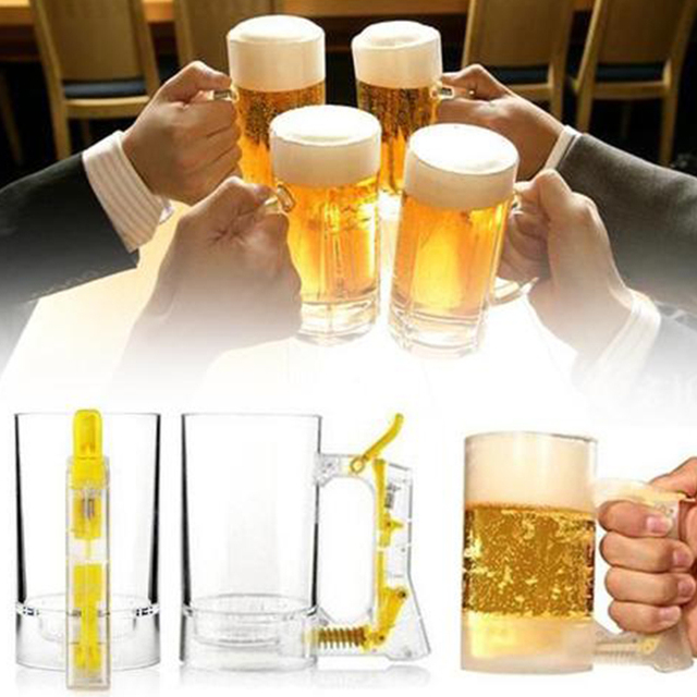 Bar Atmosphere Beer Bubble Foaming Mug 1pcs Hour Friendly Beer Foam Maker Frothing Cup Beer Glass Party Supplies Beer Foamer Mug 5