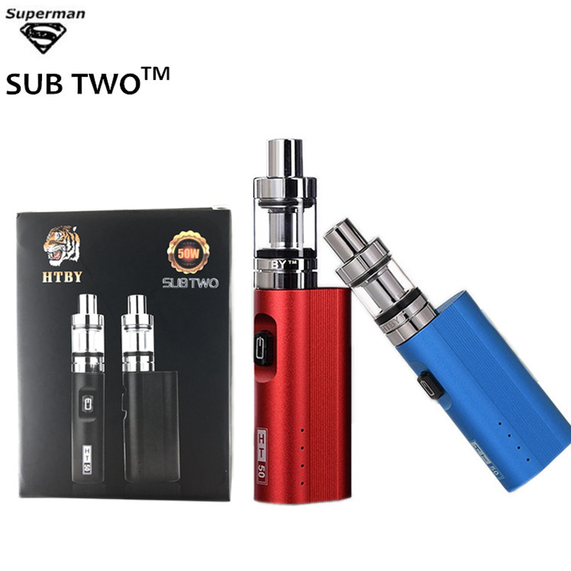 2019 New Vape Pen Electronic <font><b>Cigarette</b></font> HT50W Box <font><b>Mod</b></font> Kit 2200mAh Ht50 50W <font><b>E</b></font>-<font><b>Cigarette</b></font> Kits 2ml Atomizer Tank Vaporizer Vapor Kit image