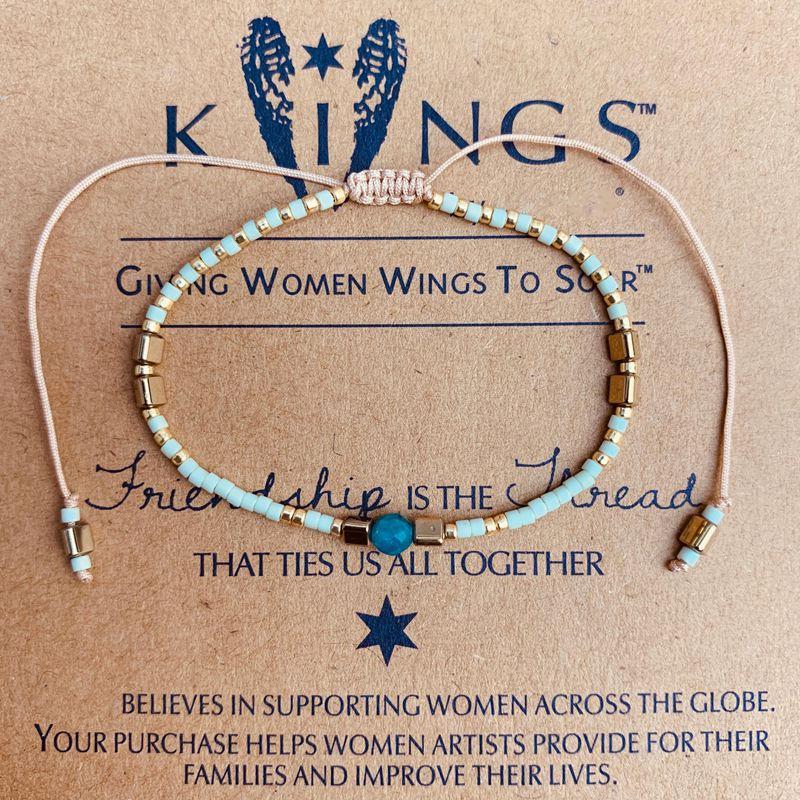 Charm Bracelets With MIYUKI Handmade Weave Blue Beads Seeds Stone Rope Friendship Bracelet For Women Boho Jewelry Drop Shipping in Strand Bracelets from Jewelry Accessories