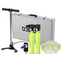 diving equipment 0.5L Diving Oxygen Tank Scuba Respirator Refill Adapter High Pressure Air Pump Diving Mask with Alloy Case
