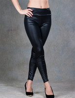 T207 Ohyeah New Sexy Summer Fashion Wetlook Leather Leggings Bandage Strappy Pants Legging Hot Sale Ankle