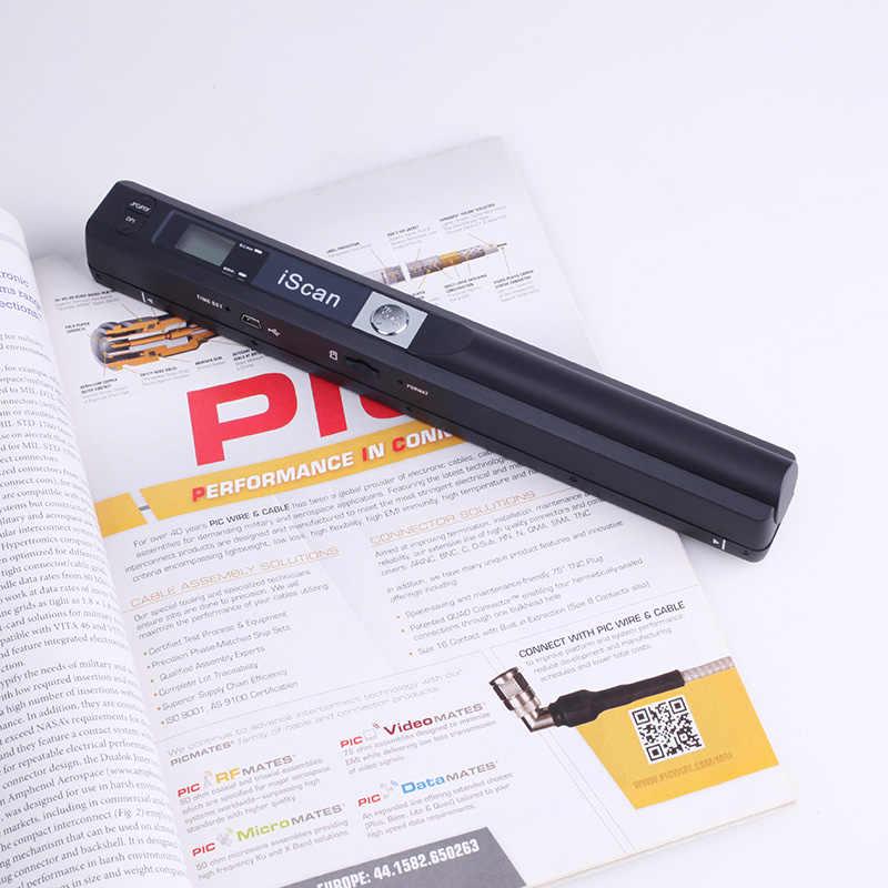 デジタルポータブル iScan ミニスキャナ 900DPI Lcd ディスプレイ JPG/PDF 形式の文書画像 Iscan ハンドヘルドスキャナ A4 ブックスキャナ