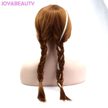 Long Blond Brown Knotted Wig 22inch