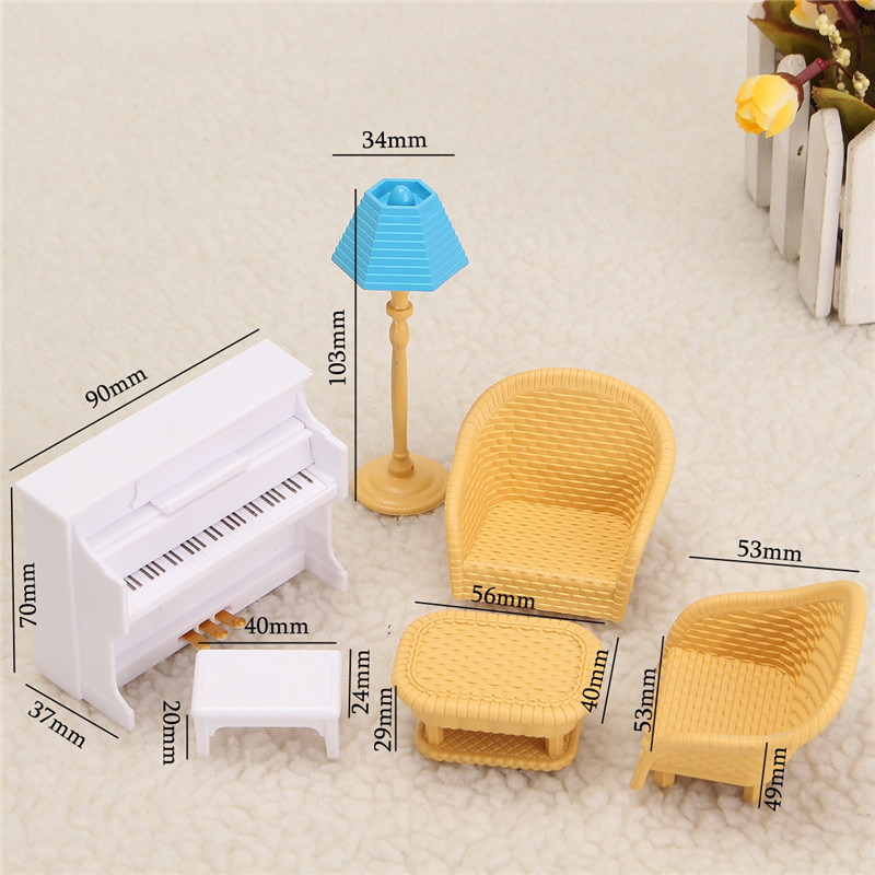 Sylvanian Families Furniture Toys Dollhouse Sofa Piano Table Miniature Furniture Sets Children Gift Toys