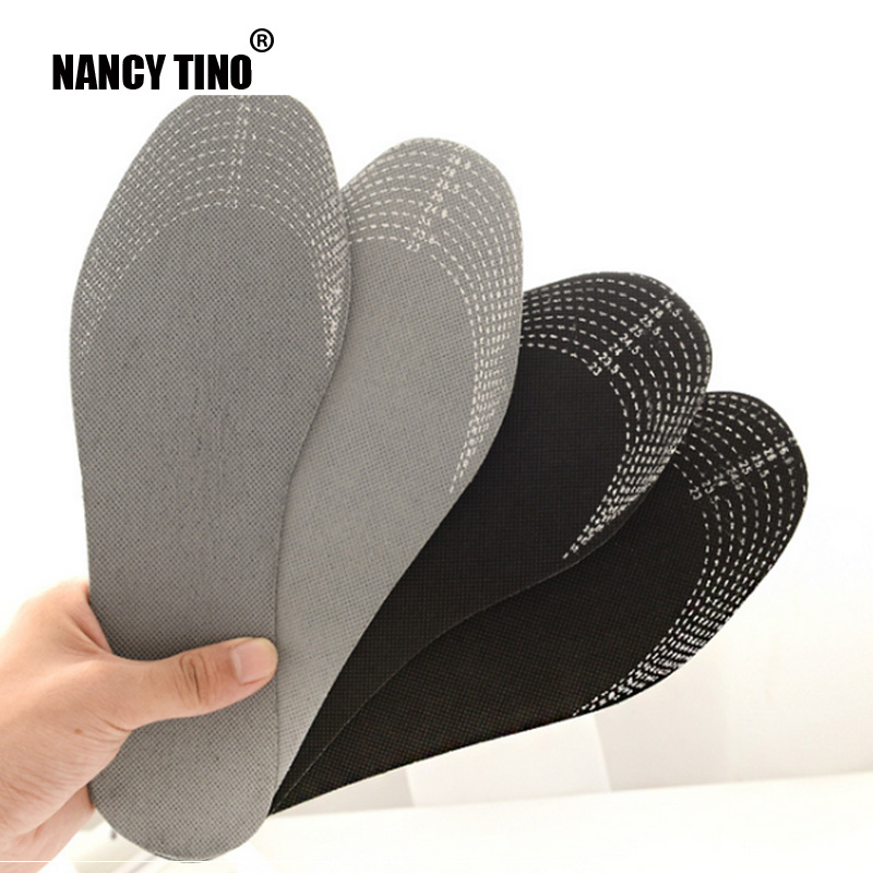 NANCY TINO Unisex 1 Pair Healthy Bamboo Charcoal Breathable Deodorant Cushion Foot Inserts Sweat Absorption Shoe Pads Insoles bamboo charcoal insoles health sweat absorbent breathable foot pad damping shoe insoles anti slip plantillas zapato accessories
