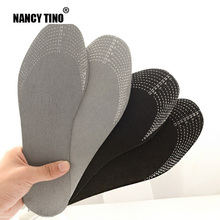NANCY TINO Unisex 1 Pair Healthy Bamboo Charcoal  Breathable Deodorant Cushion Foot Inserts Sweat Absorption Shoe Pads Insoles недорого
