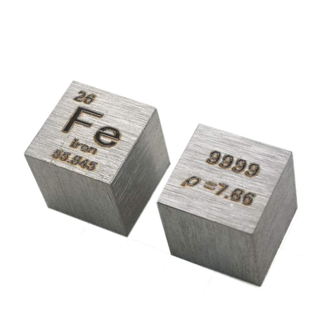 10 X 10 X 10mm (Fe≥99.9%) Wiredrawing High Purity 4N Ferrum Cube Periodic Table Of Elements Cube Fe Hand Made DIY Crafts Display