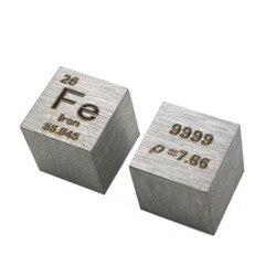 10X10X10mm (Fe≥99. 9%) Trefilação de Alta Pureza 4N Ferrum Cubo Cubo Tabela Periódica Dos Elementos Fe Exposição de Artesanato Feito À Mão DIY