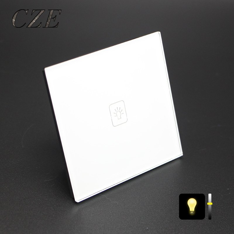 цена UK Standard 1 Gang 1 Way Dimmer Touch Switch Wall Light Controller From Dim to light Only Touch Control онлайн в 2017 году