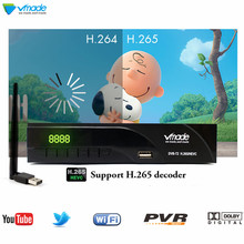 Vmade DVB-T2 + WIFI HD 1080P Digital Terrestrial TV Receiver DVB-T MPEG-2/4 H.265 Support Dolby AC3 Built-RJ45 Set Top Box