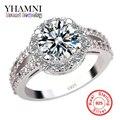 Promoção De Luxo 925 Anel De Noivado De Prata Com Selo S925 3 Quilates de Diamante CZ Anéis de casamento Para As Mulheres Tamanho 4 5 6 7 8 9 10 YH091
