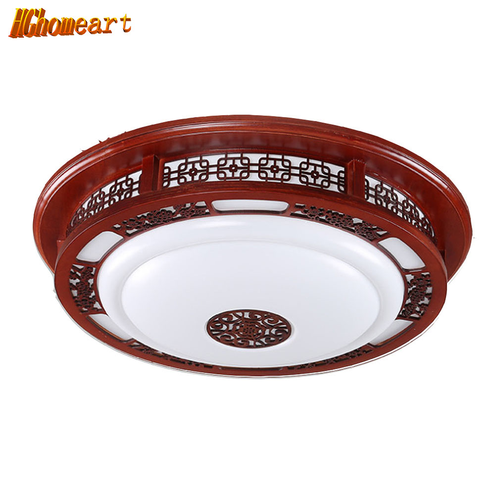 Chinese Circular Living Room Ceiling Lamp Solid Wood Acrylic Restaurant Bedroom Study Simple Led Retro Ceiling Lamp chinese style wooden led circular ceiling lamps real wood art acrylic bedroom study decorated living room ceiling lights za zs45