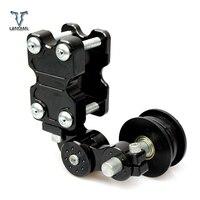Universal CNC motorcycle chain tensioner sprocket/pulley/chainsaw For suzuki GT250 gt 250 GSXR400 gsx 400 gt550 600 katana