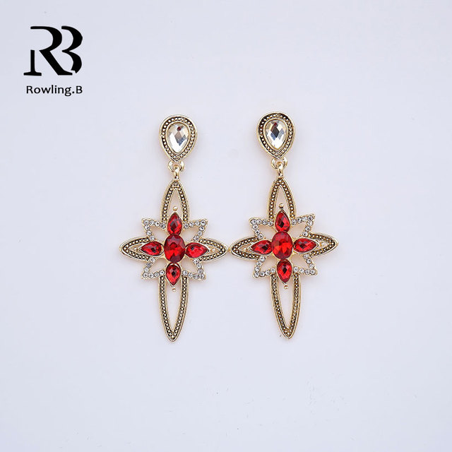 33948966fc1 US $4.23 |ROWLING.B RB Summer Collection Forget Me Not Red Color Flower For  Women Drop Earrings Fine Jewelry PAS470-in Drop Earrings from Jewelry & ...