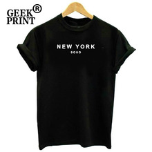 4d95a9465 Women Tops NEW YORK SOHO Print Tshirts Lady America Travelling Wanderlust  USA City fashion T Shirt