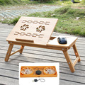 Computer Desks bed table home Furniture bamboo laptop desk with cooling fan 54*34CM portable foldable new cheap whole sale hot