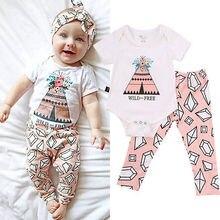 Newborn Baby Girl Print Bodysuit Infant Floral Jumpsuit Toddler Autumn Outfits Hot Fashion Kids Sunsuit Clothes