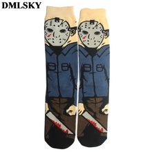 DMLSKY Friday the 13t Funny Socks Women Men Fashion 3D Printed Cotton Cartoon Novelty M3720
