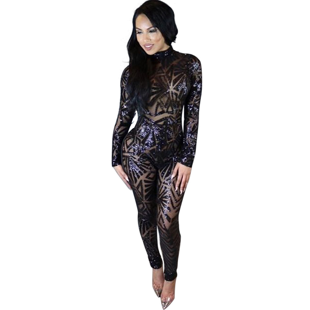 Free Shipping Sexy Women Hollow Out Sexy Party Long Jumpsuit
