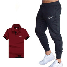 2019 Summer Hot Sale Men's Sets polo tshirt+pants Two Pieces Sets Casual Tracksuit Male Casual poloTshirt Gyms Fitness trousers