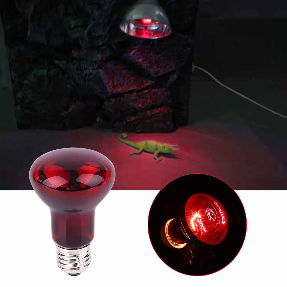 Mini E27 Reptile Pet Heating Light Bulb 50W Infrared Ceramic Emitter Lamp Lights Habitat Lighting For Pet Brooder Supplies