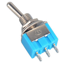 10pc/LOT Blue Mini MTS-102 3-Pin SPDT ON-ON 6A 125VAC Miniature Toggle Switches(China)