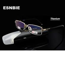 927ea075e9 ESNBIE Titanium Reading Glasses Men Gold Presbyopia Lens