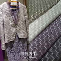 High grade gold jacquard fashion fabric / four color tooth / European style suit / small coat fabric