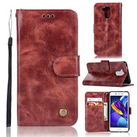20PCS Retro Business Cases Wallet For Huawei Honor 6C Pro Case Retro Flip Book Leather Cover For Huawei 6C Pro Phone Protector