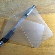 500 pçs/lote atacado nome cartão de visita 85.5*54mm plástico fosco pvc branco transparente cartão sem impressão