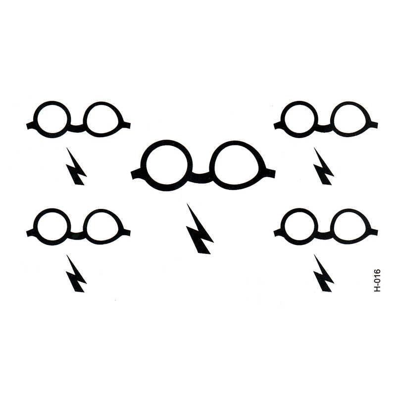 Pencahayaan Sementara Tubuh Art Lengan Tubuh Arm Flash kacamata Palsu Tatoo Henna Tatto Tato Stiker Tahan Air Stiker