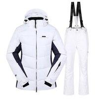 2018 новый открытый белый лыжный костюм зимний для девочек непромокаемые теплые один двойной доска флис Лыжная куртка брюки