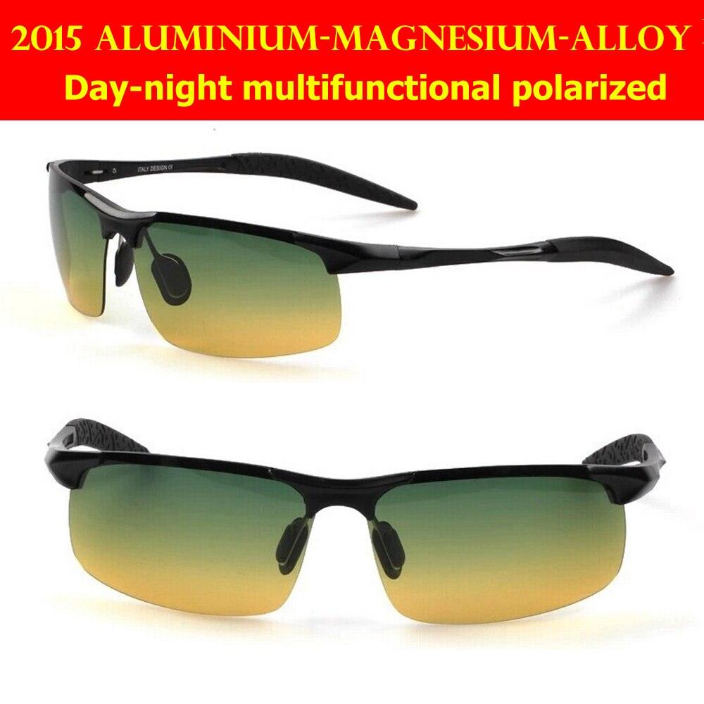 2018 Day And Night Multifunctional Aluminium-magnesium Alloy Battle Field Style Polarized Uv400 Uv100% Mens Sunglasses