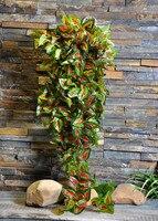 עלים מלאכותיים קיר קיסוס תליית קישוט בית צמחים ירוק סימולציה קש סגול עלה Perilla MA2290