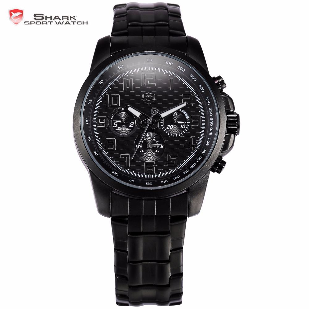 Saw Shark Sport Watch Stainless Steel Case Black Dial Relogio Auto Date Display Steel Strap Men Military Wristwatch Gift / SH183 цена