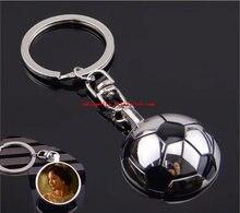Sublimation blank metall ball schlüssel ring Kette heiße transfer druck schlüsselanhänger verbrauchs material 20 teile/los
