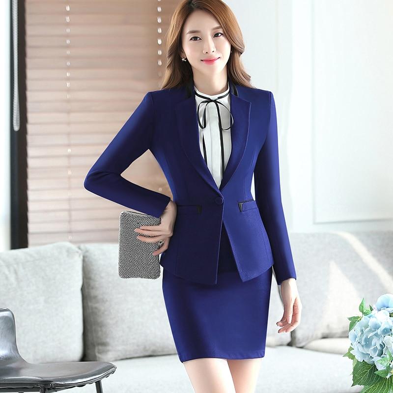 aliexpress   buy blue two piece ladies formal skirt