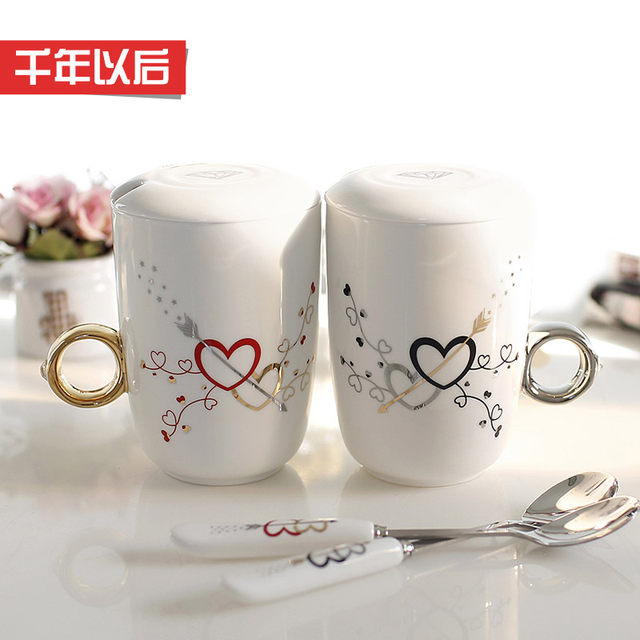 Singles Creative Novelty Cup Couple Rings Male And Female Friends To Send Special Birthday Gift Romantic Practical Items