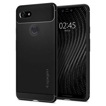 100% Original SPIGEN Google Pixel 3 / Pixel 3 XL Case Rugged Armor Matte Black Soft TPU Anti-Slip Drop Resistance Cases