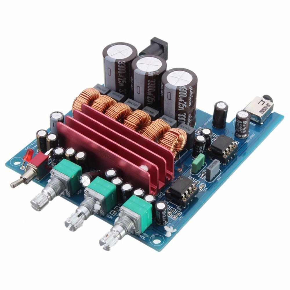 Digital Amplifier Board TPA3116D2 2x50W+100W 2.1 channel HIFI Digital Subwoofer Amplifier Board Module 12V-25V