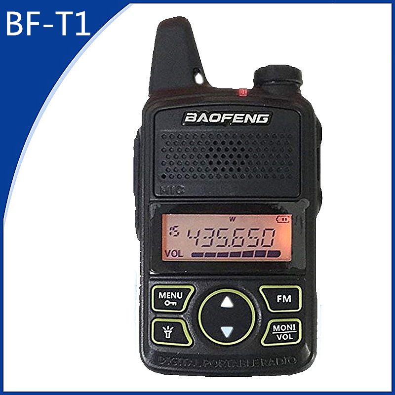 Baofeng Mini Walkie Talkie BF T1 LCD UHF FM Ham CB Radio Two Way Radio for Kids 1500mAh HF Transceiver Interphone-in Walkie Talkie from Cellphones & Telecommunications