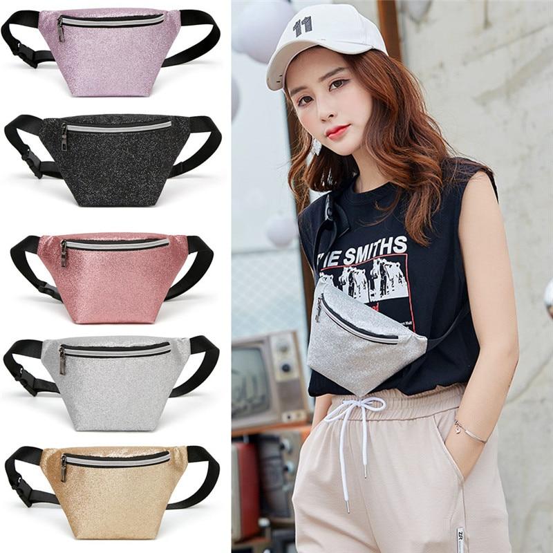 2019 New Fashion Style Women PU Waist Fanny Pack Belt Bag Chest Pouch Travel Hip Bum Bag Lady Small Purse