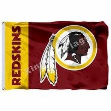 Washington Redskins Wordmark Flag 3ft X 5ft Polyester NFL1 Washington  Redskins Banner Flying Size No.4 90 150cm Custom F 47aefd0b7