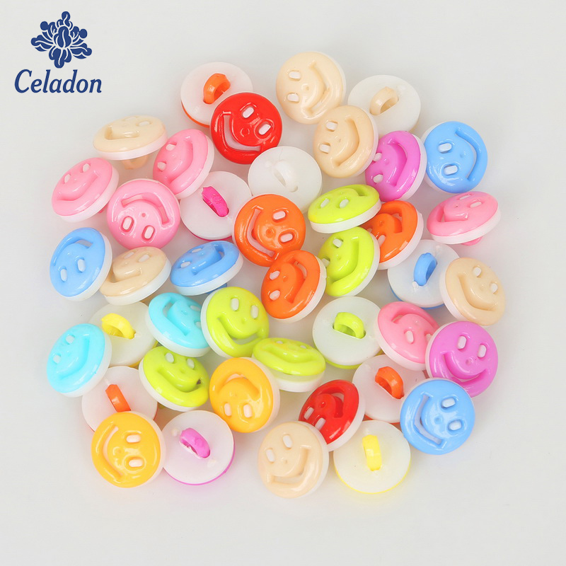 13×8 мм 50 шт. пластиковые кнопки Случайные Смешанные улыбка DIY для пришивания пуговиц для скрапбукинга Craft Одежда Аксессуары