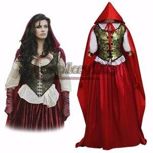 Cosplaydiy dawno temu rubinowe małe czerwone bandana płaszcz przebranie na karnawał Halloween kostiumy dla dorosłych kobiet wykonane na zamówienie