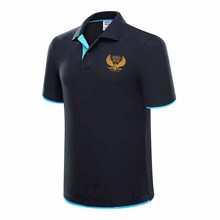 Mens Polo Shirt Air Force One Brands Slim Solid Polo Shirts Brand Clothing Short Sleeve Fashion Poloshirt Summer Large Size XXXL