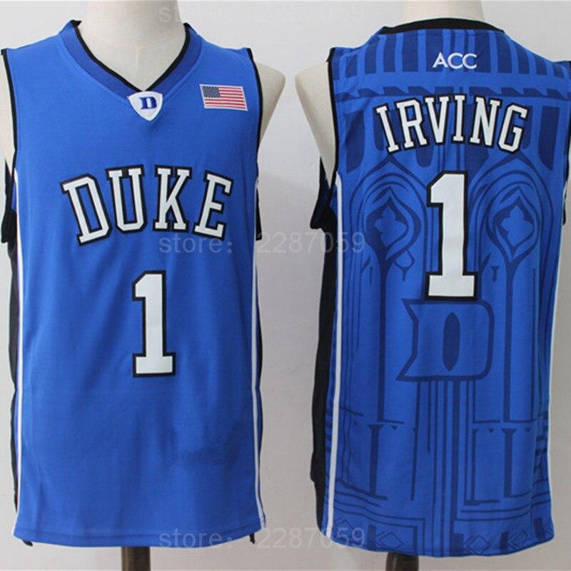 1cf9fec466ca ... sale aliexpress buy ediwallen duke blue devils basketball 1 kyrie irving  college jerseys men sport breathable