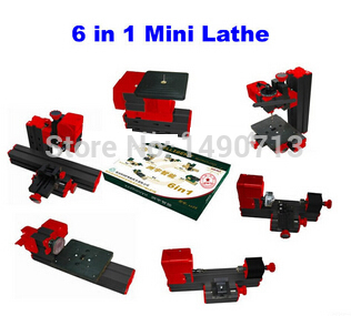 NO shipping!! 6 in 1 mini lathe mini machine tool, Motorized Mini CNC Machine, jig saw grinder suitable for DIY making professional 6 in 1 motorized jig saw grinder driller metal lathe wood lathe