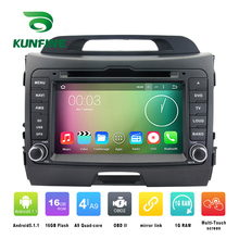 Quad Core 1024*600 Android 5.1 Car DVD GPS Navigation Player Car Stereo for Kia SPORTAGE 2010-2013 Radio 3G WIFI Bluetooth